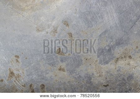 Dirty scratched metal texture with splashes