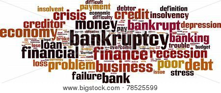 Bankruptcy Word Cloud Concept. Vector Illustration. Isolated on White poster