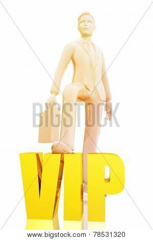 Businessman And Vip Symbol