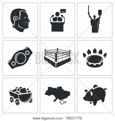 Ukraine Vector Icons Set