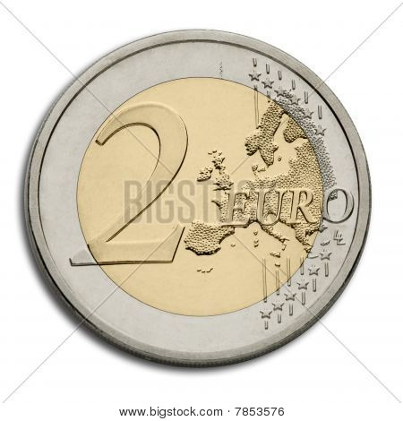 European Union Currency - Two Euro Coin