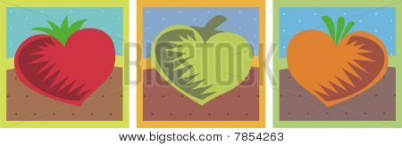 Heart Vegetables Healthy Dining Food Gardening Love