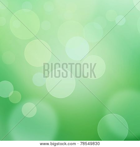 Green bokeh and natural light background