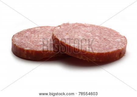 Two Pieces Of Cervelat Sausage