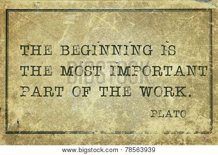 Begin Plato
