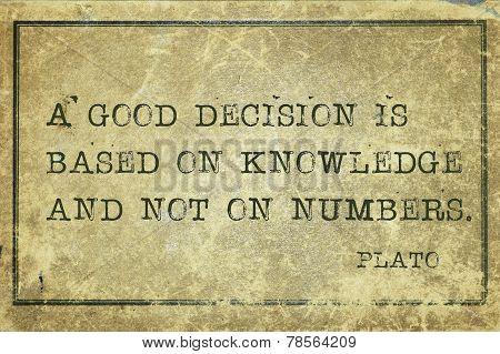 Decision Plato