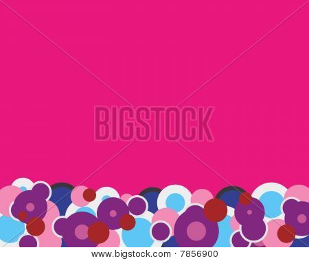 Pink Abstract Circles