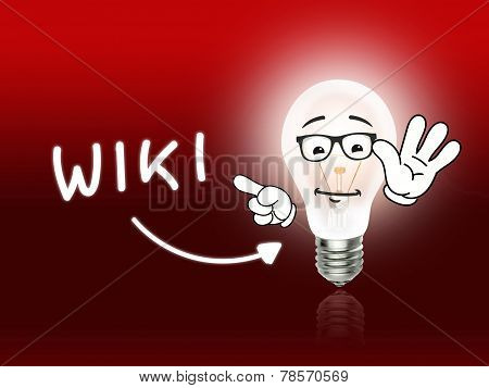 Wiki Bulb Lamp Energy Light Red