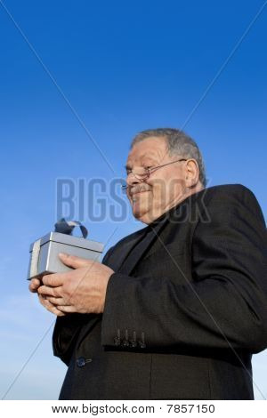Buissness Man With Gift