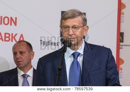 MOSCOW, RUSSIA, JUNE, 16: Vladimir Yevtushenkov, Sistema. 21st WPC, June, 16, 2014 at Crocus Expo in Moscow, Russia