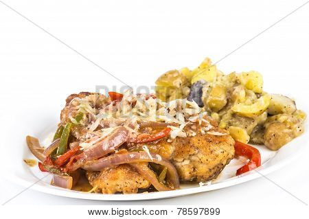 Fried Chicken With Potatoes