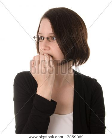 Nervous Woman Thinking