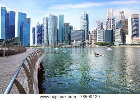 Downtown Singapore from Marina Bay.