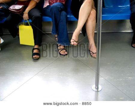 Legs In A Train