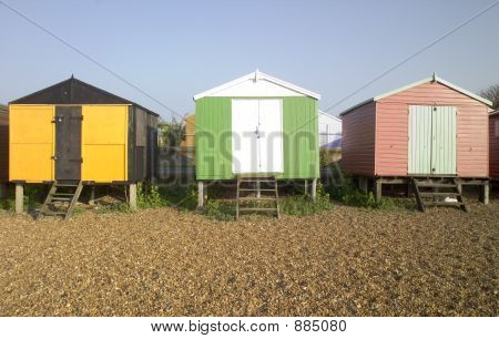 Strand Hütten Whitstable Kent Uk England