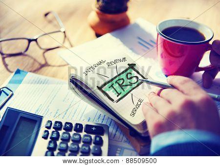 International Revenue Service IRS Finance Taxation Government Concept