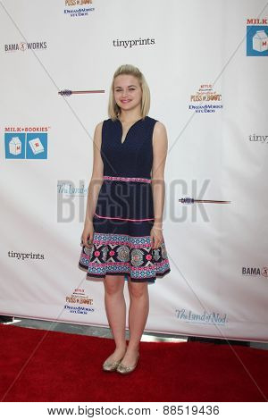 LOS ANGELES - FEB 19:  Joey King at the Milk+Bookies Sixth Annual Story Time Celebration at the Toyota Grand Prix Racecourse on April 19, 2015 in Long Beach, CA