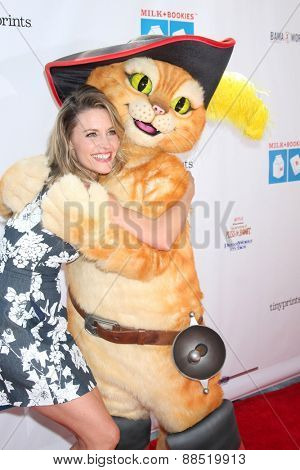LOS ANGELES - FEB 19:  KaDee Strickland, Puss In Boots at the Milk+Bookies Sixth Annual Story Time Celebration at the Toyota Grand Prix Racecourse on April 19, 2015 in Long Beach, CA