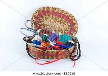 Sewing Basket Filled Alpha