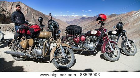 Motocycles Brand Royal Enfield And Biker