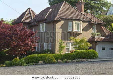Residential Houses Around Portland Oregon.