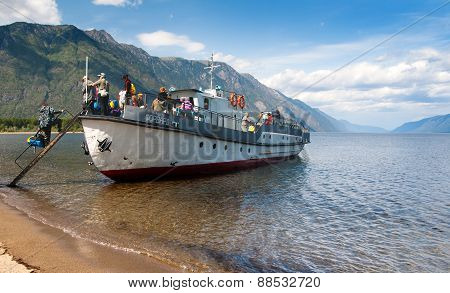 Transportation Of People On The Ship