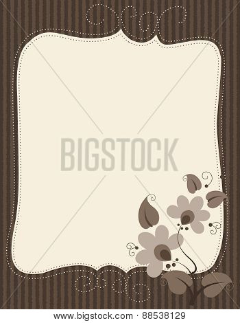 Notepaper With Floral Decoration