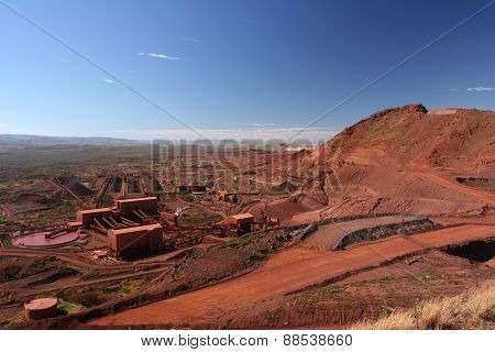 Iron ore mining operations Pilbara region Western Australia