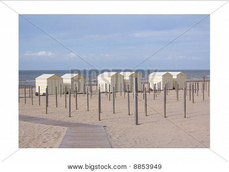 beach view in de panne
