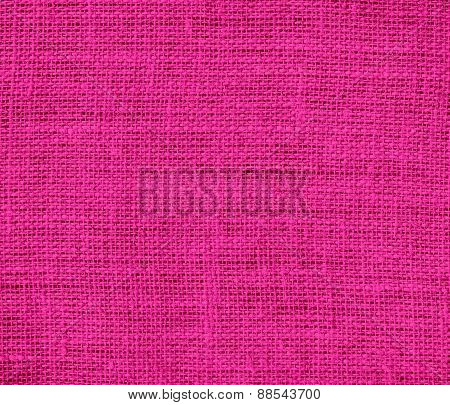 Barbie pink color burlap texture background