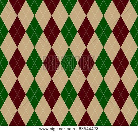 Seamless Christmas Argyle Pattern