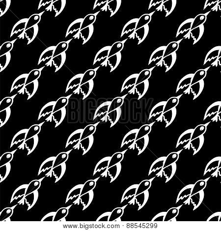 seamless pattern with migratory birds