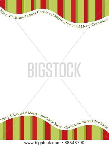 Christmas Stripe Frame