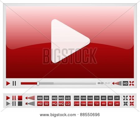 Red videoplayer