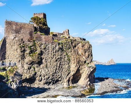 Norman Castle And Islands Of The Cyclops, Sicily
