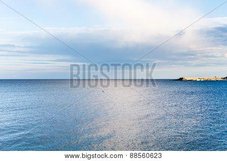 Mole And Ionian Sea Near Giardini Naxos Town