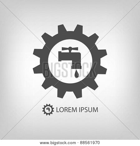Grey plumbing logo