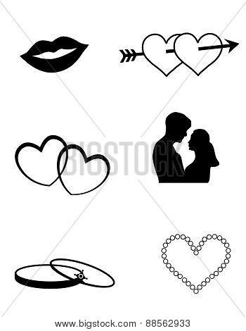 Love / Wedding Web Icon Collection
