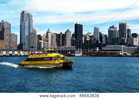 water taxi in NYC