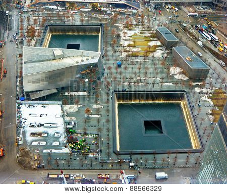 9/11 Memorial At The World Trade Center Ground Zero