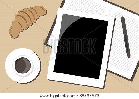 Office Breaksfast Vector Illustration