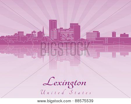 Lexington Skyline In Purple Radiant Orchid