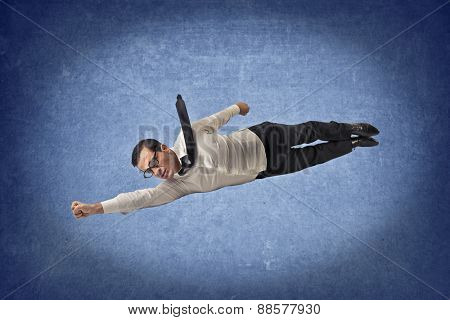 Flying like superman