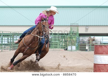 Beautiful Barrel Racer