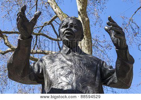Nelson Mandela Statue In Parliament Square, London