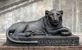 Ancient Egyptian Lion at the Vatican Museum in Rome poster