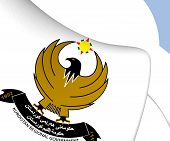 3D Kurdistan Regional Government Emblem. Close Up. poster