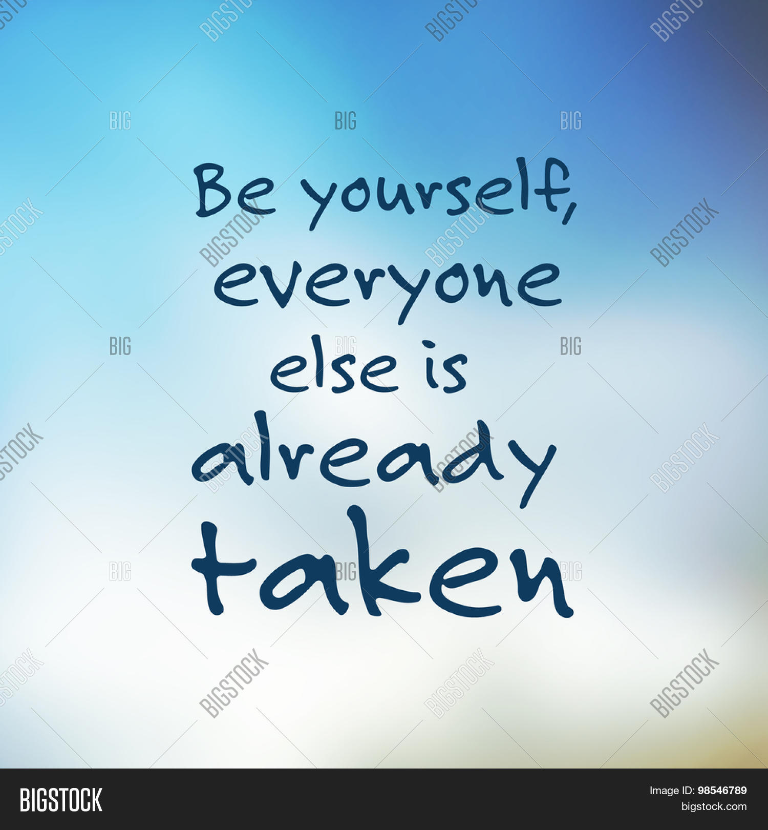 Be Yourself Everyone Vector Photo Free Trial Bigstock