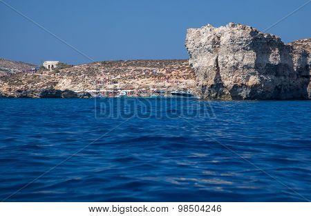 Cliff At Comino Island, Malta