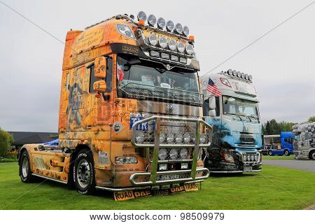 DAF Show Trucks With World History Themes